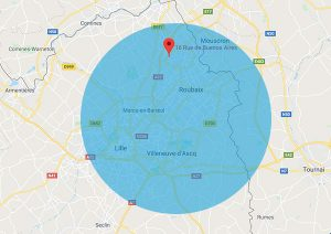 Zone d'intervention de Esprit de Services